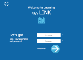 Screenshot of Learning Ally's Link